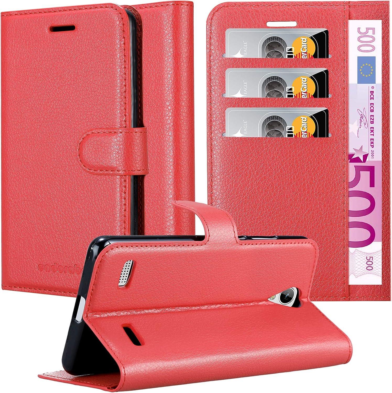 Cadorabo Funda Libro para ZTE Blade A520 en Rojo CARMÍN: Amazon.es: Electrónica