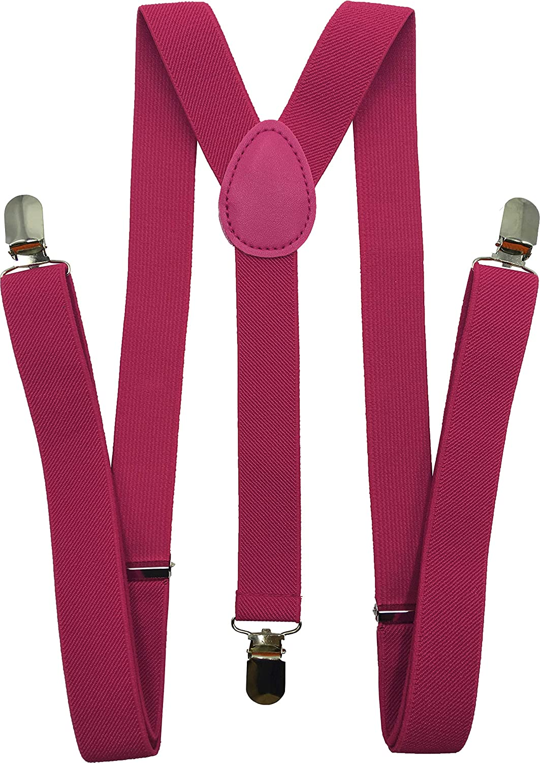 Consumable Depot Solid Color Suspenders Y-Back Adjustable and Elastic
