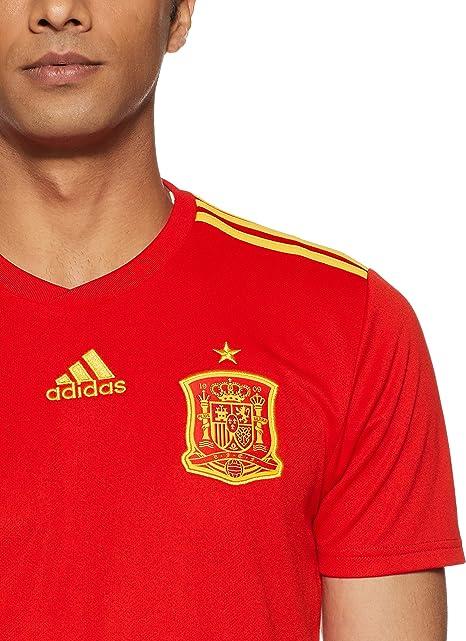 adidas Camiseta de la Selección Española de Fútbol para el Mundial 2018, Oficial, Hombre, 1ª Equipación: Amazon.es: Ropa y accesorios