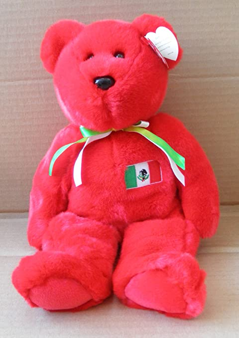 fe90c688d0a Amazon.com  TY Beanie Babies Osito Mexican Flag Teddy Bear Stuffed Animal  Plush Toy - 14 inches tall  Toys   Games