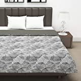 Divine Casa Twilight Microfiber All Weather Double Dohar, Abstract- Grey and Off White