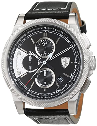 Scuderia Ferrari OROLOGI Hombre Reloj de Pulsera Formula Italia S analógico de Cuarzo Piel 0830275: Amazon.es: Relojes