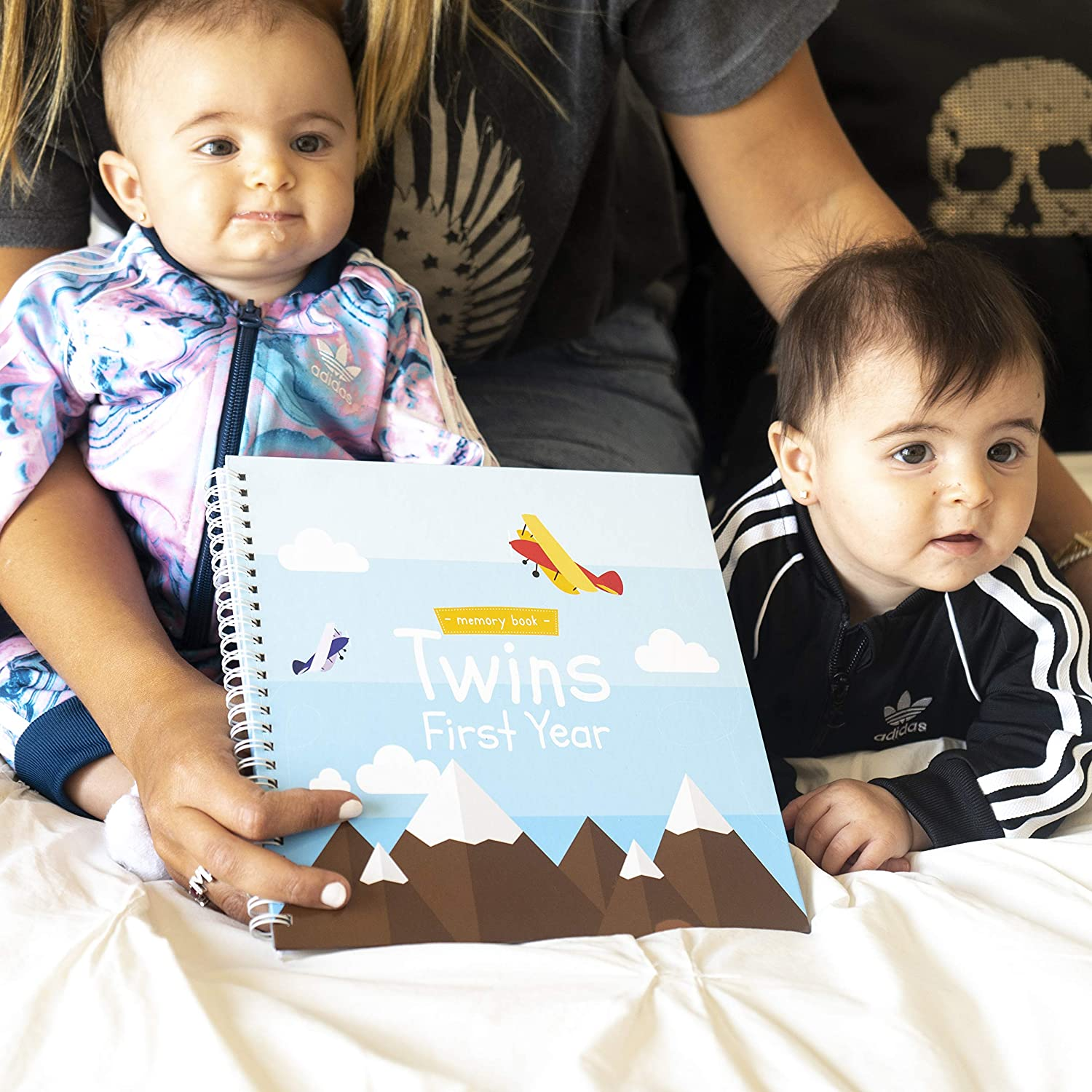 Twins First Year Hardcover Memory Book Airplanes Edition/