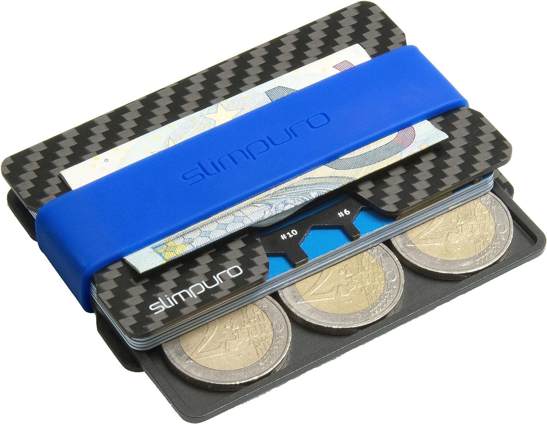 Tarjetero de Carbono con Monedero y Clip para Billetes | Protección RFID y NFC | Tarjeta Multiusos | Más Fino que cualquier Cartera | PROTECCIÓN hasta 16 Tarjetas Crédito | Pinza para Billetes: Amazon.es: Equipaje