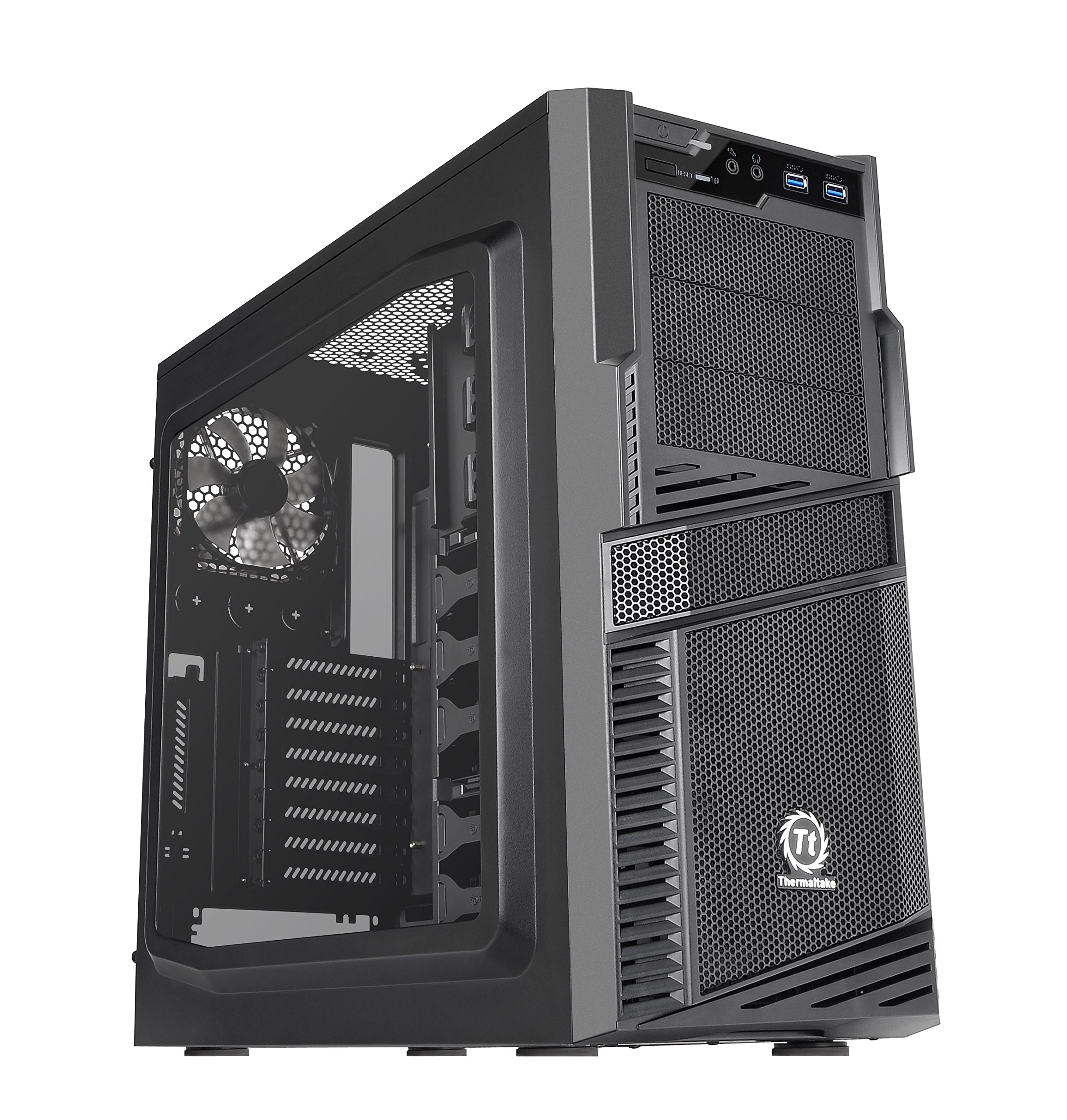 Thermaltake Commander G42 Window  SPCC ATX Mid Tower Computer Chassis CA-1B5-00M1WN-00 by Thermaltake