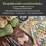 Crochet Hooks Set by Craft Destiny - 9 Comfortable