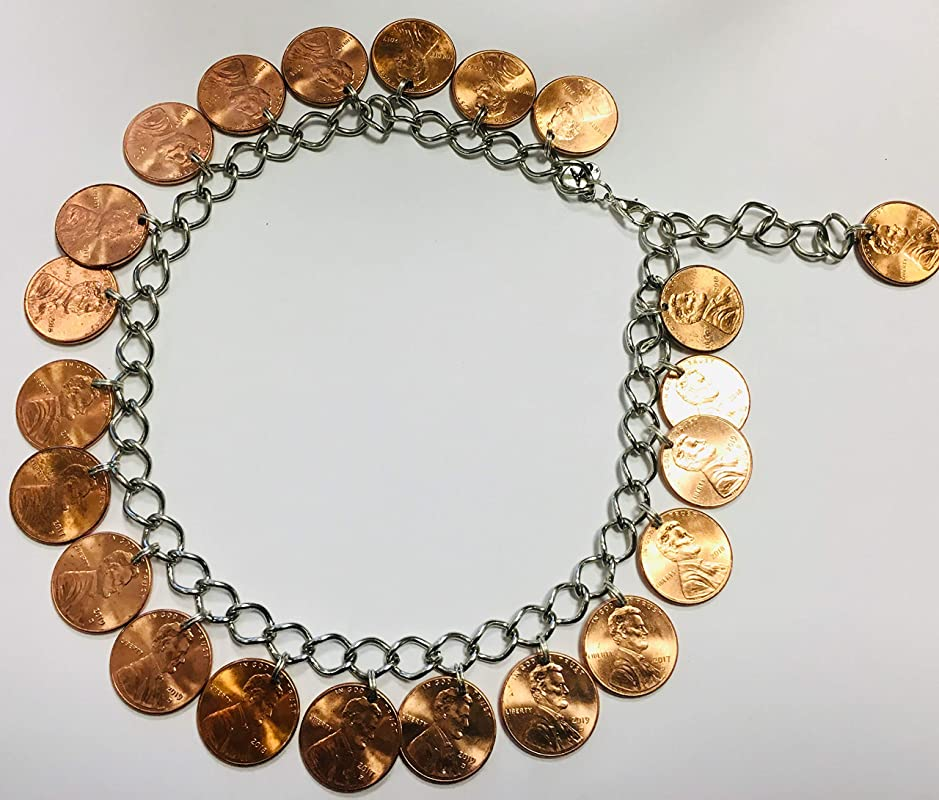 Wedding Gifts for men Lucky Penny Anniversary Penny Charm Bezel YOU PICK YEAR Birth Year Birthday Necklace charm Bracelet Charms