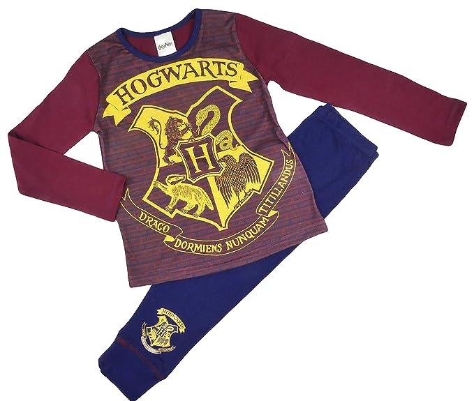 2bf28e077 Harry Potter Pyjamas 2 Styles Hogwarst and Gryffindor 4-5y To 9-10 Years  (Hogwarts Burgundy, 5-6 Years): Amazon.co.uk: Clothing