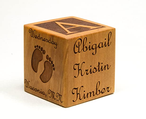 Amazoncom Personalized Wooden Baby Block Personalize Gift For