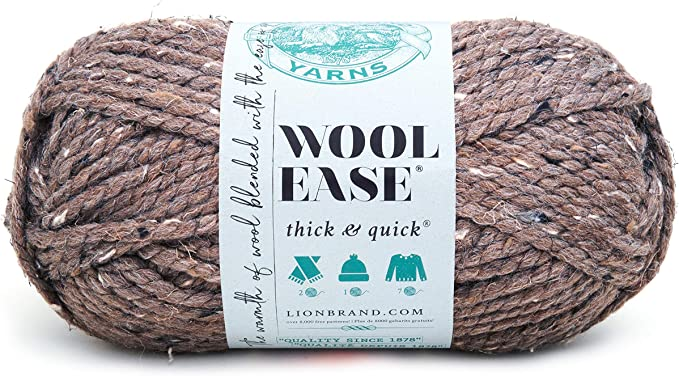 Lion 640 124J Wool Ease Thick & Quick Yarn , 97 Meters, Barley