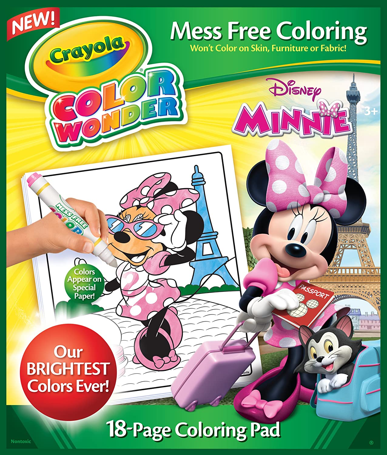 amazoncom crayola minnie mouse color wonder refill book toys games - Color Wonder Books