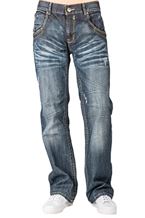 a192a0175cd Level 7 Men Relaxed Bootcut Premium Denim Distressed Jean Zipper Utility  Pocket Size 40 X 32