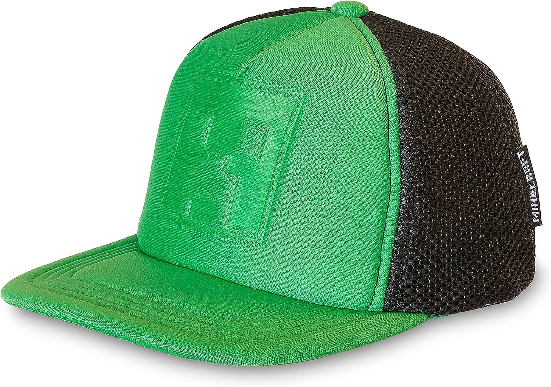 Minecraft Boys//Youth Baseball Snapback Caps Creeper Diamond Steve Overworld