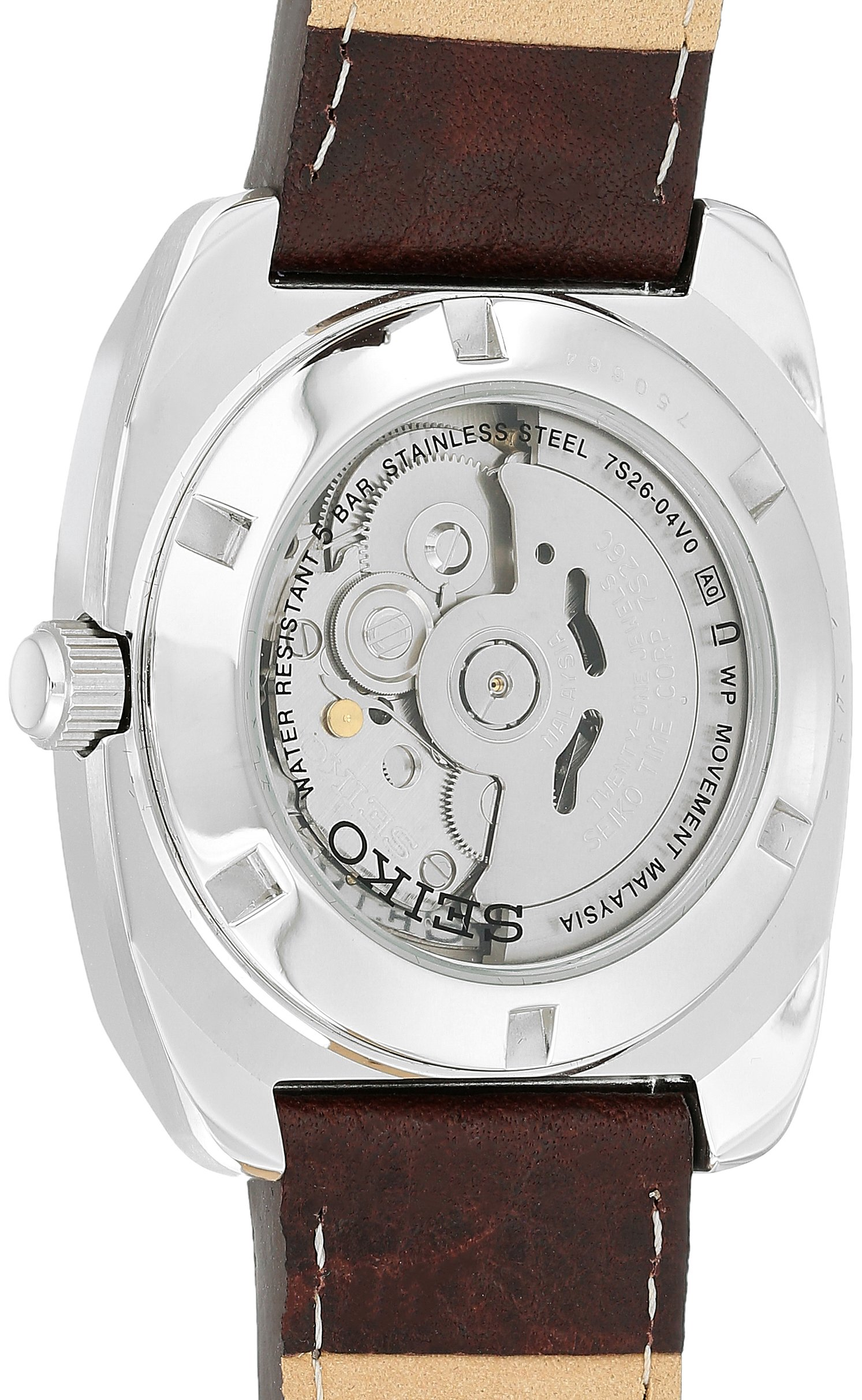 Seiko Men's Recraft Series Automatic Leather Casual Watch (Model: SNKP27) by SEIKO (Image #2)