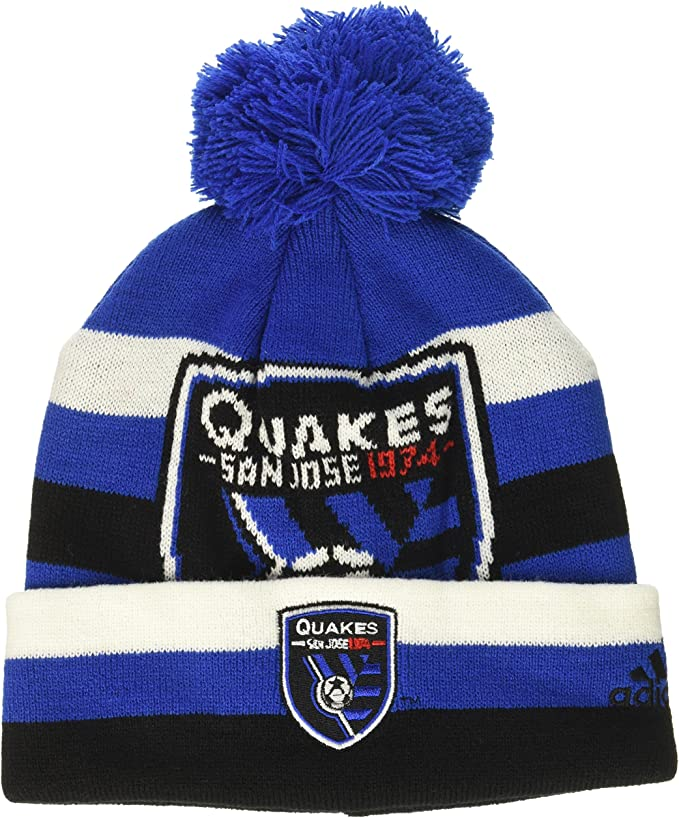 Youth 1 Size Dark Navy 7 MLS by Outerstuff Boys Cuffed Knit Hat with Pom