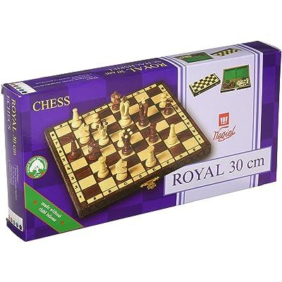 Chess Royal 30 European Wooden Handmade International Set, 11.81 x 1.97-Inch: Toys & Games