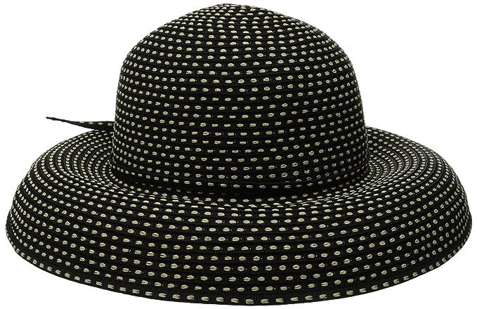 564b67068fe San Diego Hat Company Women s 4-inch Brim Ribbon Kettle Sun Hat at ...