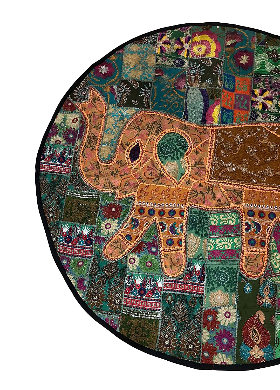 SBMINDIA Elephant Wall Hanging Tapestry Decor Indian Patchwork Decoration Handicraft 50