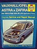 Vauxhall/Opel Astra and Zafira (petrol) Service and Repair Manual (Haynes Service and Repair Manuals)