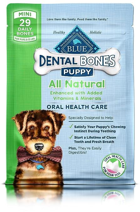 Blue Bones Puppy Mini Dental Chew Dog Treat 12 Oz