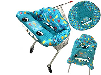 Fine Amazon Com 3In1 Blue Shark And Little Fish Shopping Cart Alphanode Cool Chair Designs And Ideas Alphanodeonline