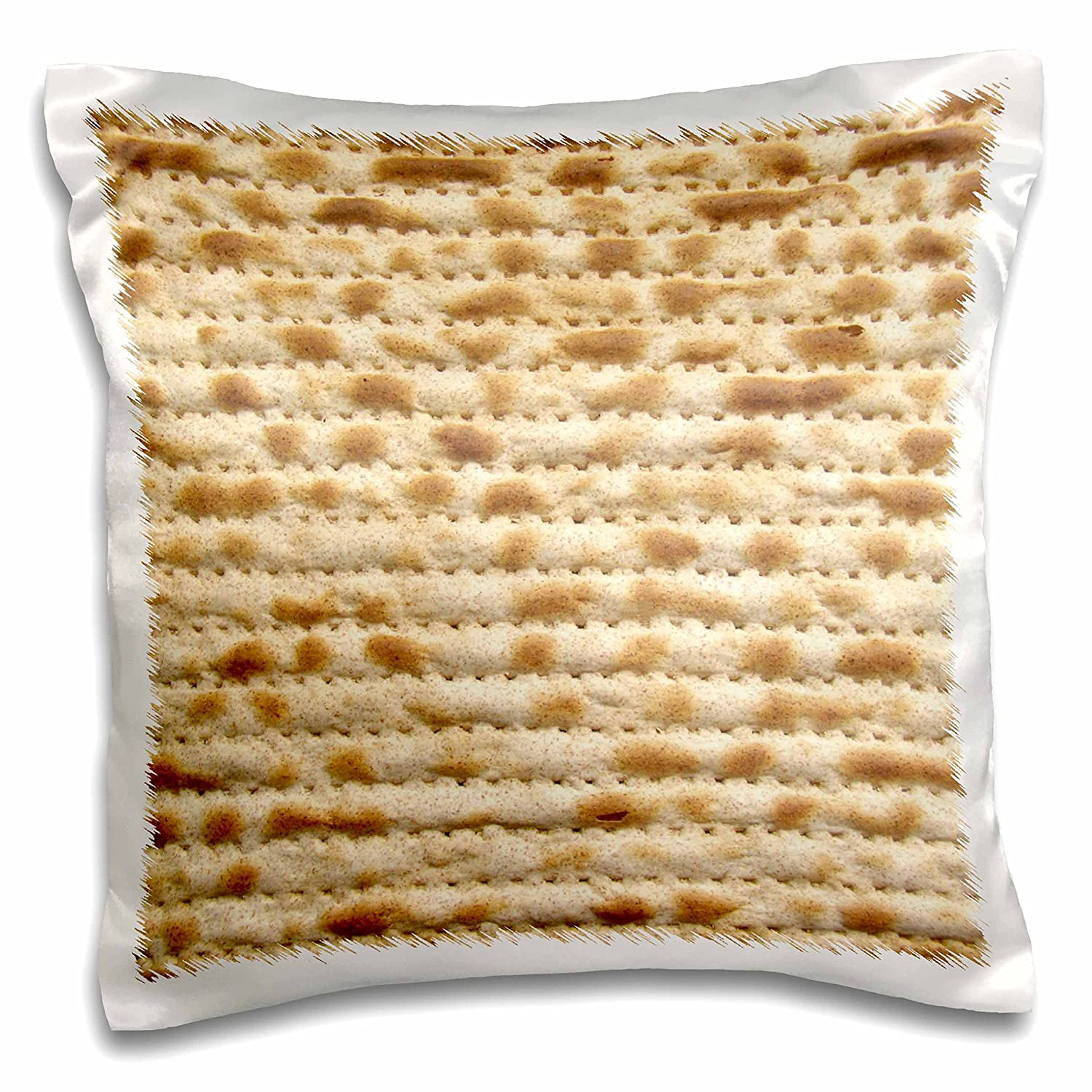"""3dRose Matzah Bread Texture Photo-for Passover Pesach-Funny Jewish Humor-Humorous Matzo Judaism Food-Pillow Case, 16 by 16"""" (pc_112943_1)"""