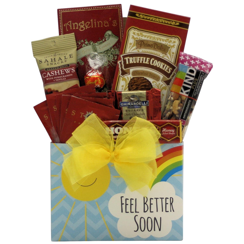 Amazon.com : GreatArrivals Feel Better Soon Get Well Gift Basket : Grocery & Gourmet Food