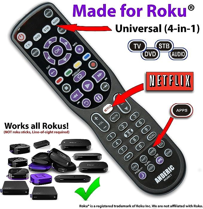 ANDERIC 3-device Universal mando a distancia para mando a ...