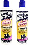 The Original Mane 'n Tail Color Protect Shampoo + Conditioner – 8 Weeks Color Vibrancy – Max Color Hold, Healthier Hair - Reduced Frizz, UV/Thermal Protection – 12 Oz – 2-Pack