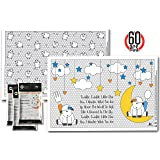 New Super Sticky Disposable Placemats - 60 Mats - for Kids Toddlers Baby Children perfect use as restaurants dinning Eco Friendly BPA FREE 2 attractive designs!