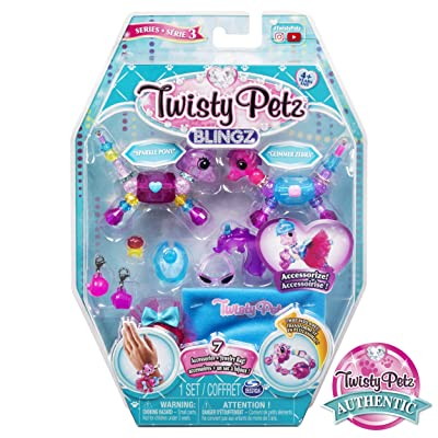 Twisty Petz, Series 3 Blingz, Pony and Zebra Customizable Bracelet Set for Kids Aged 4 and Up: Toys & Games