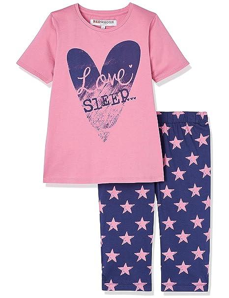 991725a9c RED WAGON Pijama de Corazones para Niña, Rosa (Pink), 5 años: Amazon ...