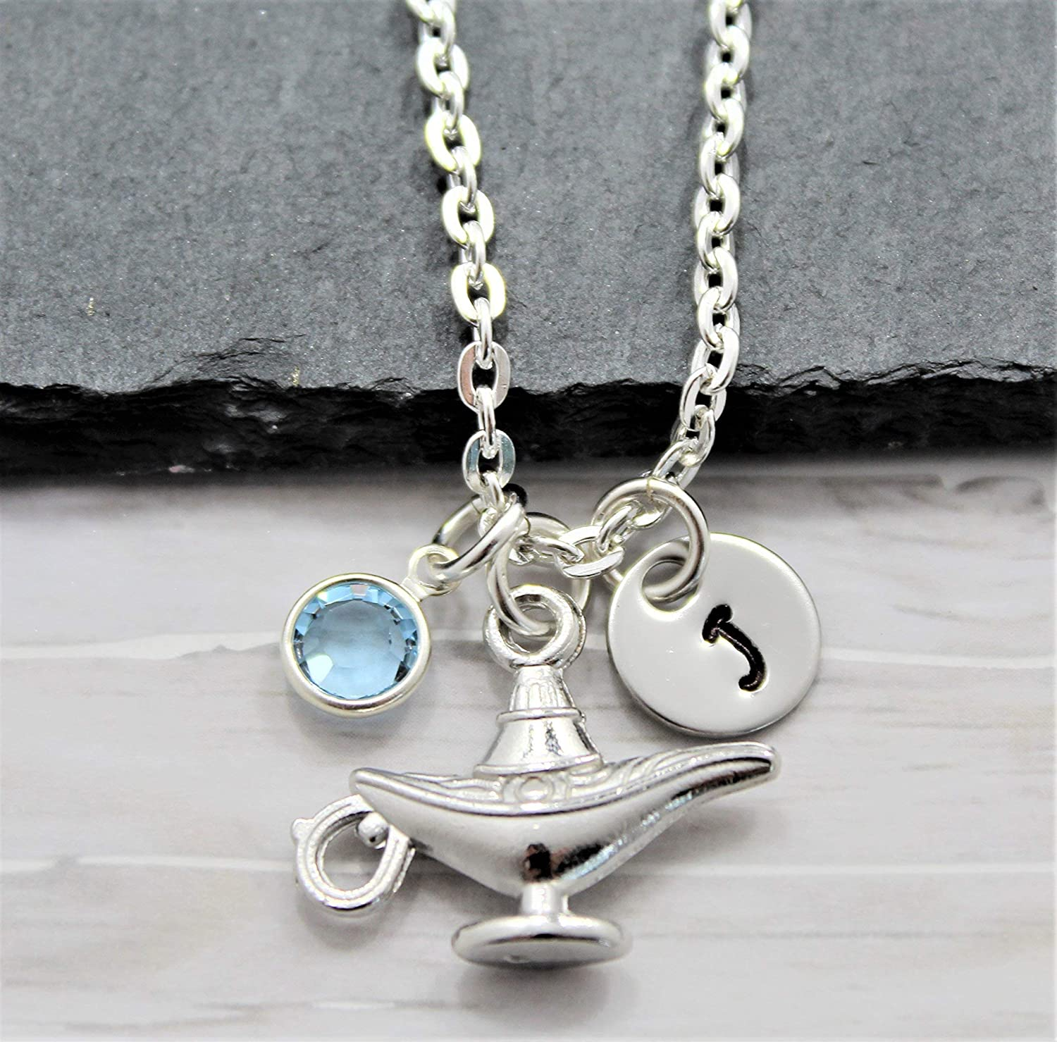 Aladdin/'s Magic Lamp Lamp Pendant Necklace Real 925 Sterling Silver Charm Necklace