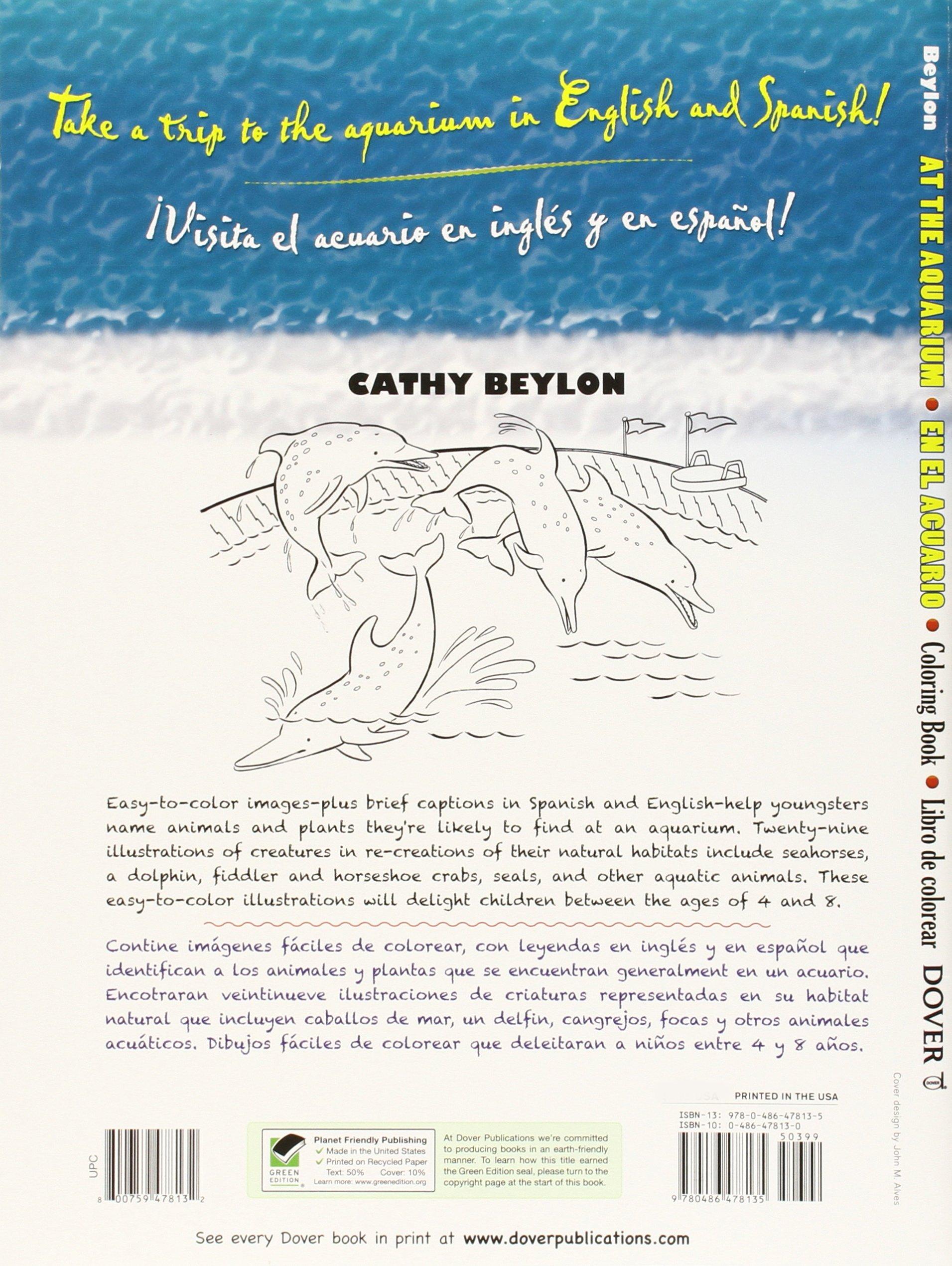 At the Aquarium Coloring Book/En El Acuario Libro de Colorear: Cathy ...