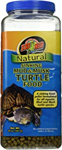 Zoo Med Natural Sinking Mud and Musk Turtle Food, 20 Ounces Each