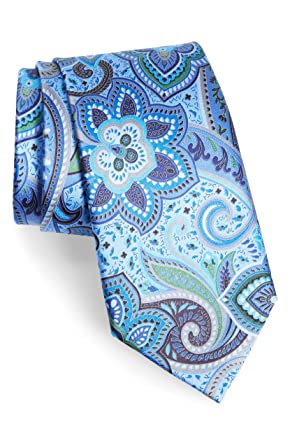 a6c81fb8468e3 Image Unavailable. Image not available for. Color: Ermenegildo Zegna # 166  Quindici + Quindici Navy Floral Paisley Silk Tie
