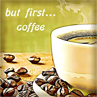 product image for Next Innovations Motivational Wall Art But First Coffee Wall Decor Panel