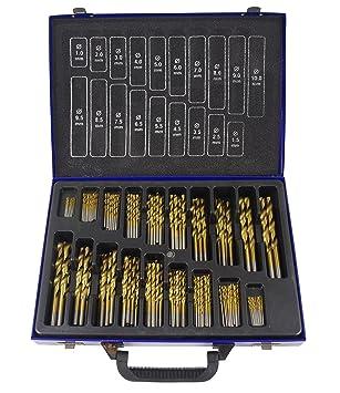 Titan HSS Metall-Bohrer Holzbohrer Spiralbohrer Bohrerset 1-10mm DIN338 170tlg