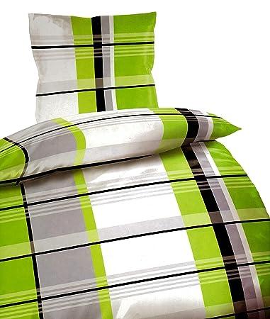 4 Tlg Bettwäsche 135 X 200 Cm Grau Rot Microfaser 2 Garnituren Möbel & Wohnen Bettwäsche