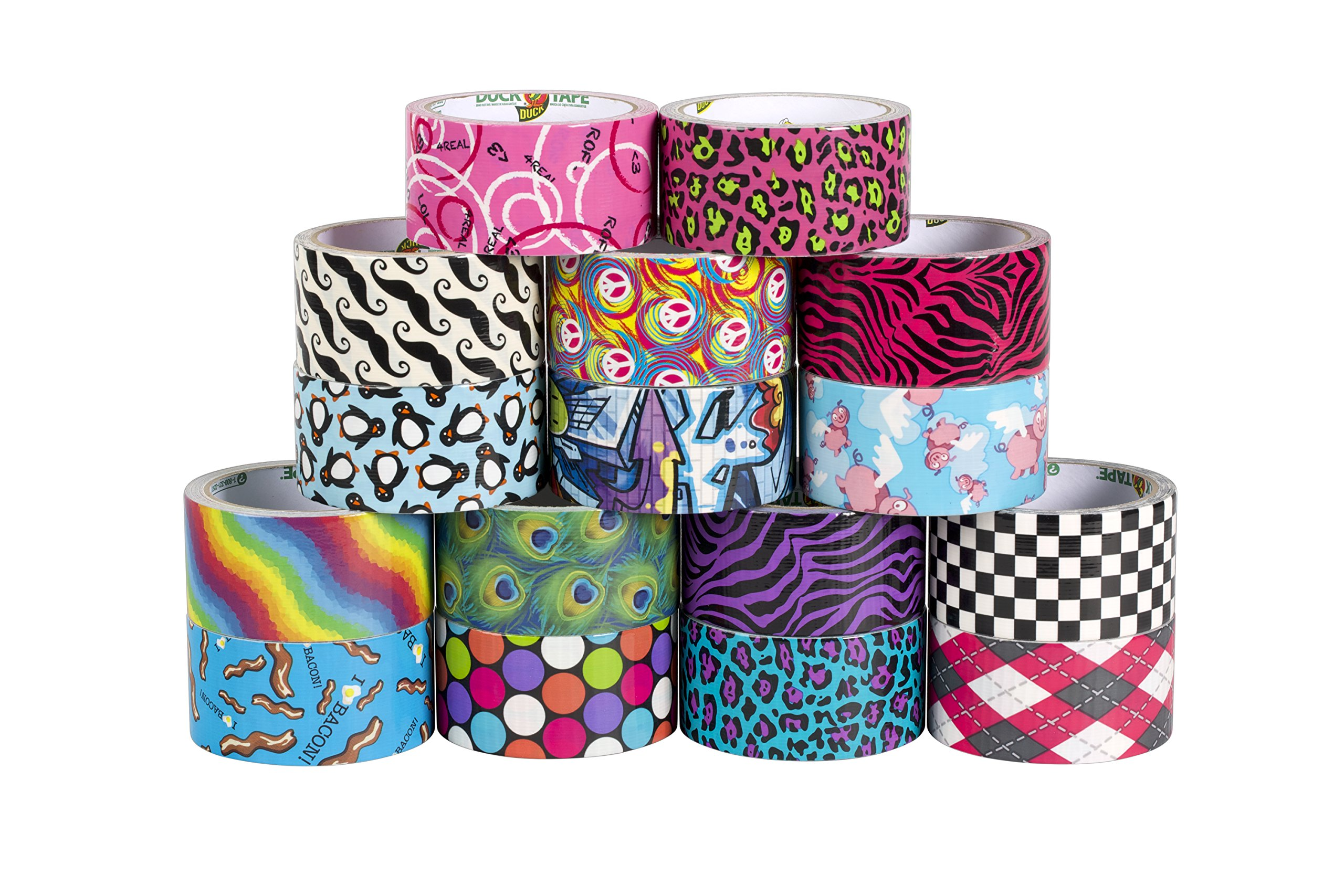 Duck Brand 280977 Printed Duct Tape, Pink Argyle, 1.88 Inches x 10 Yards, Single Roll by Duck (Image #6)