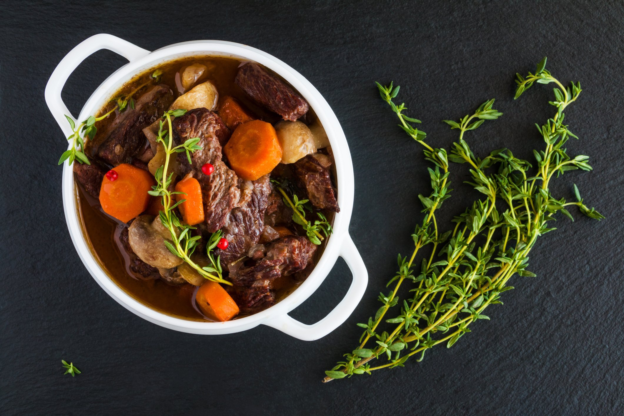 Two Kosher Beef Stew Dinners with Organic Quinoa and Vegetables