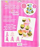 """Pudgy Pedro's Pink 3 Tier Cupcake Stand Party Supplies (Polka Dot), 14 x 12"""""""