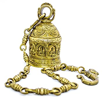 Buy The Holy Mart Pure Brass Navgrah Hanging Bell in Golden
