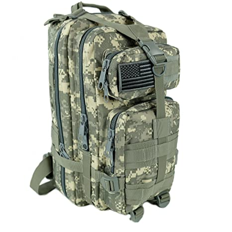 1e8c1adcc2 Tactical Ops Military Tactical Backpack Army Combat 3 Day Assault Pack Molle  Bug Out Bag Rucksacks for Outdoor Hiking Camping Trekking Traveling and  Hunting ...