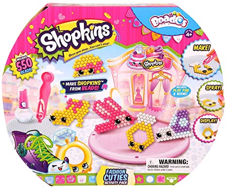 Beados Shopkins Activity PK Fashion Cuties Bead Kits at amazon