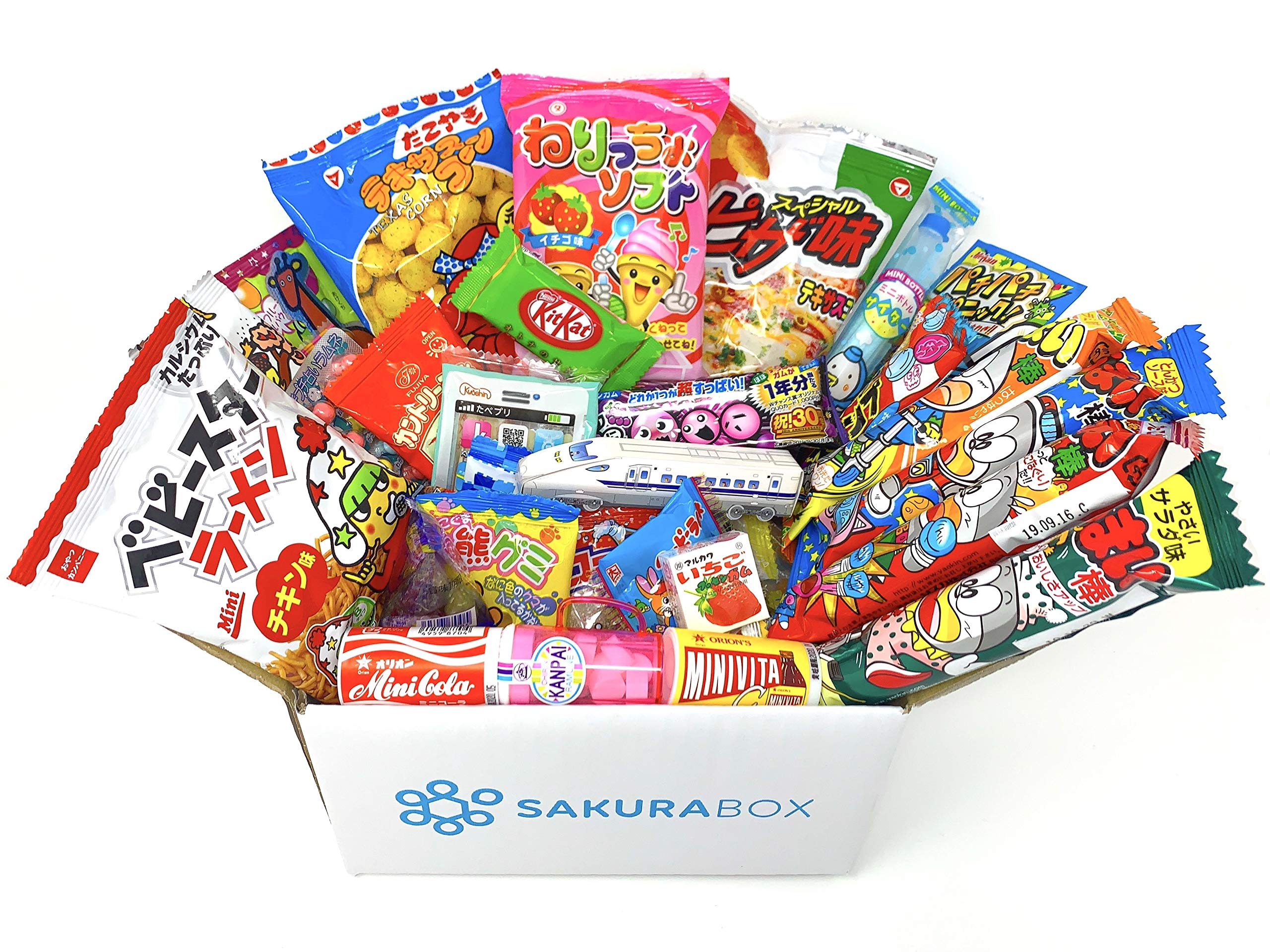 Sakura Box - Dagashi Set - Medium (40 Pieces) Japanese Candy Chocolate Snacks (Medium) by Sakura Box