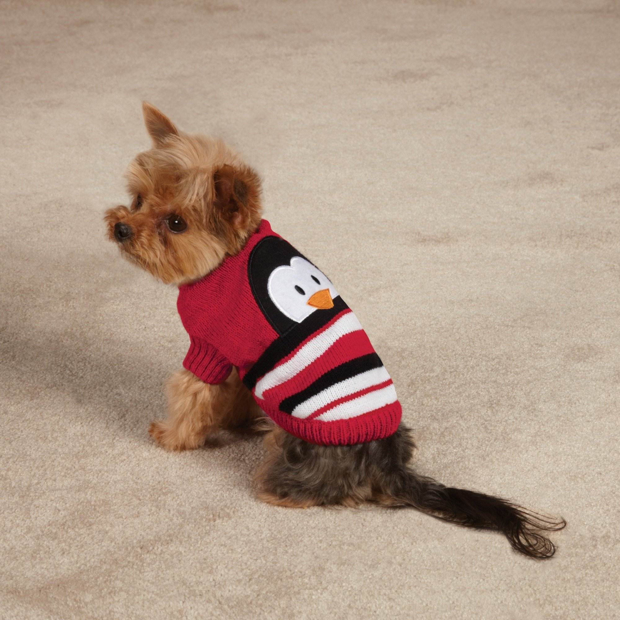 Zack & Zoey Piggy Back Pals Sweater and Hat Set for Dogs, 20'' Large, Penguin by Zack & Zoey (Image #2)