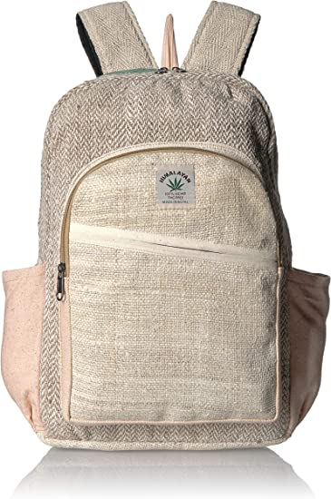 Premium Quality Eco-Friendly Nature\u2019s Green Pure Hemp Backpack Extra Durable