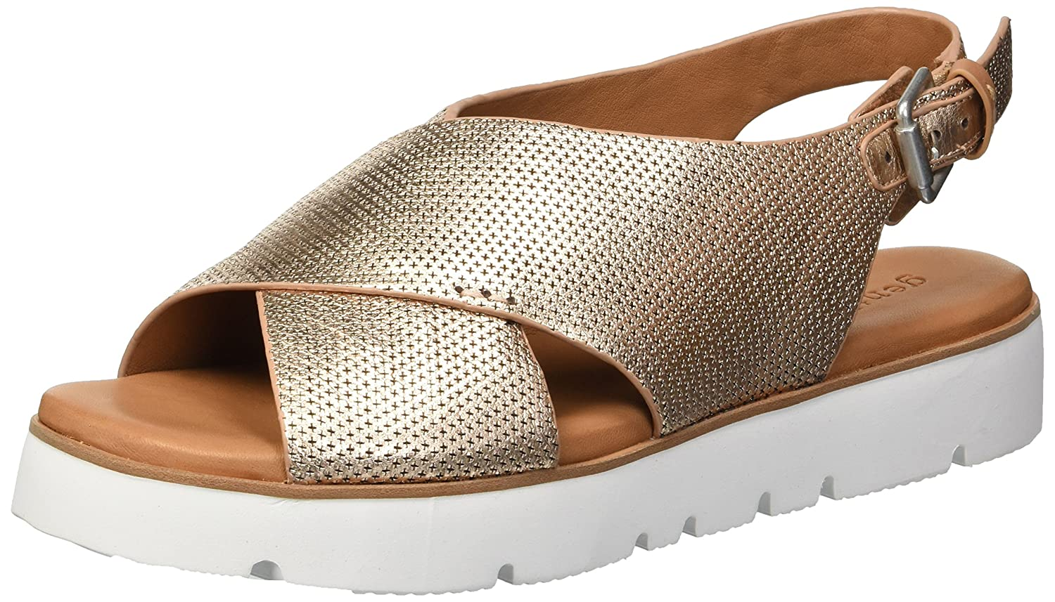 Gentle Souls by Kenneth Cole Women's Kiki Platform Sandal B078B36RWB 8 M US|Rose Gold