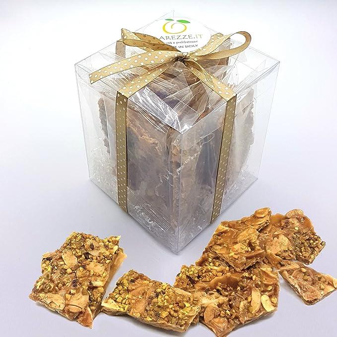 Biscochos Crujientes (Croccanti) al pistaccho di Bronte y almendra en una elegante confeccion de